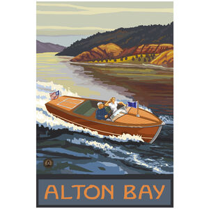 Alton Bay New Hampshire Woodie Boat Lake