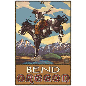 Bend Oregon Bucking Horse Cowboy