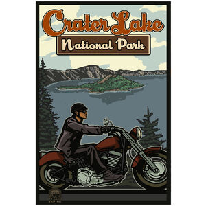 Crater Lake National Park Motorcycle Rider