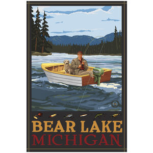Bear Lake Michigan Fisherman In Boat