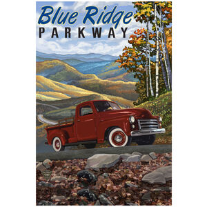 Blue Ridge Parkway Big Red Truck
