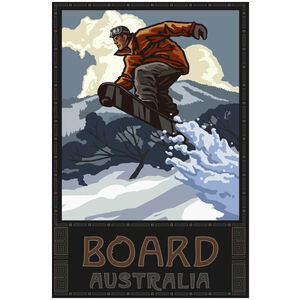 Board Australia Snowboarder Jumping Air