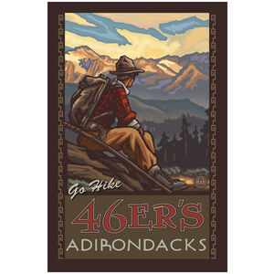 46ers Adirondacks New York Mountain Hiker Man