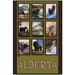 Alberta Canada Animal Collage