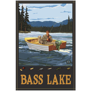 Bass Lake California Fishing in Boat