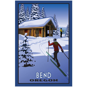 Bend Oregon Cross Country Skiers & Cabin