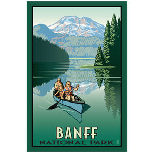 Banff National Park Canoers