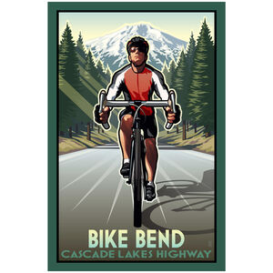 Bike Bend Cascade Lakes Highway Bike Rider