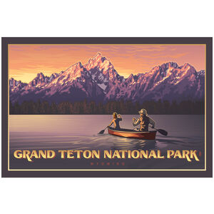 Grand Teton National Park Canoers