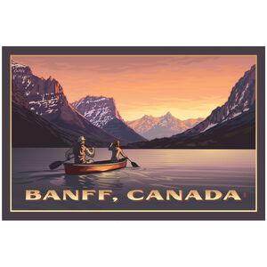 Banff Canada Canoers