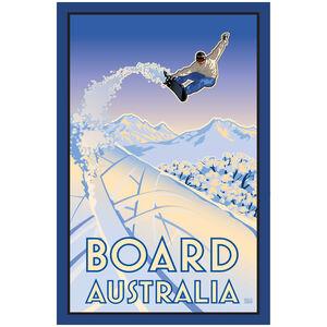 Board Australia Snowboarder Air