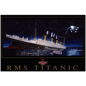 Titanic sinking stern view