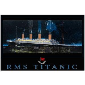 Titanic sinking starboard view