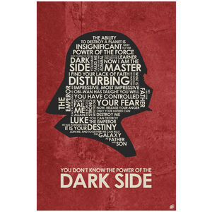 Dark Side Giclee Art Print Poster by Stephen Poon