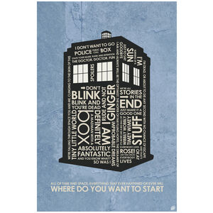 "Doctor Who, Tardis, ""Where Do You Want To Start"""