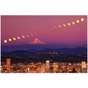 2017 Great Solar Eclipse over Portland, Oregon