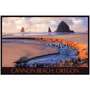 Cannon Beach With Haystack Rock