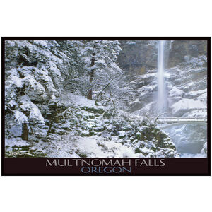 Multnomah Falls In Winter