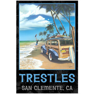 Woodie on Trestles Beach, San Clemente
